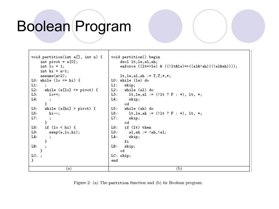 Boolean Program
