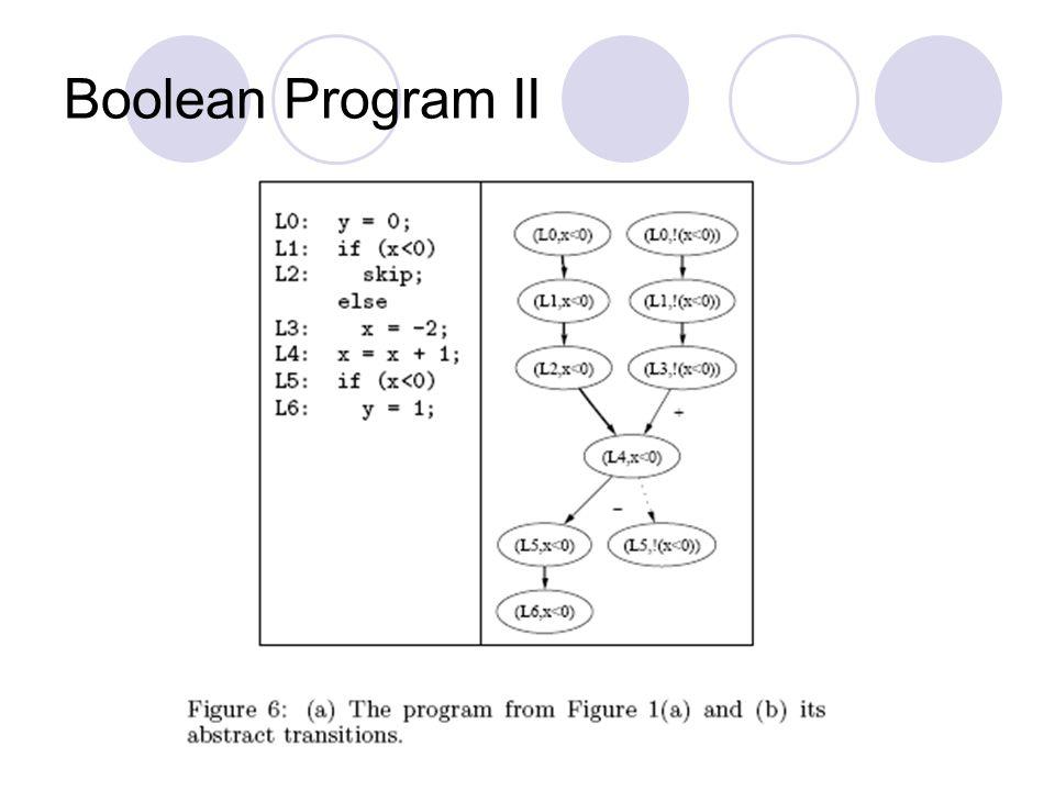 Boolean Program II