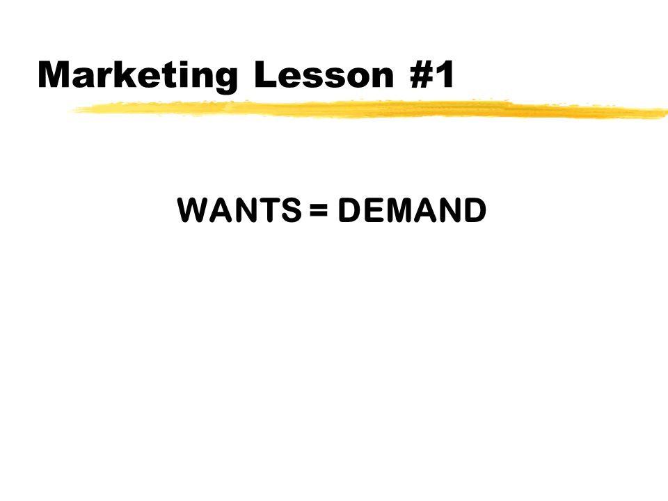 Why do Wants = Demand? z_______________________