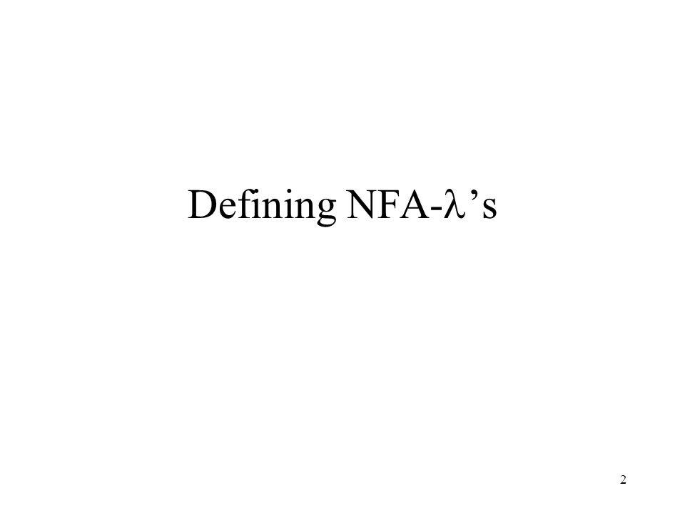 2 Defining NFA- 's