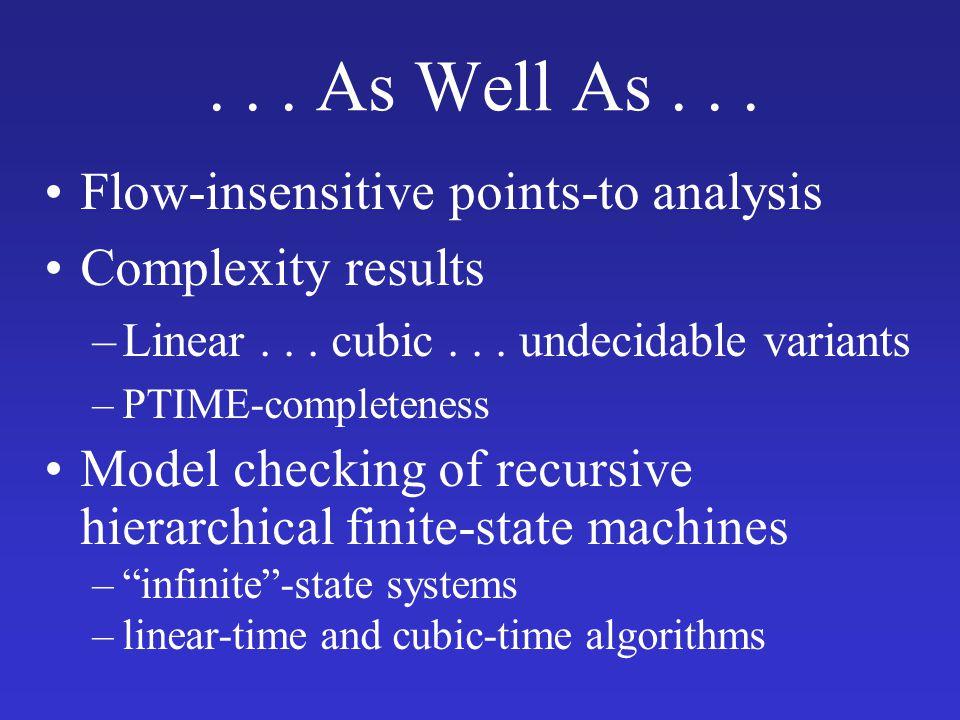 CFL-Reachability = Chain Programs Grammar A  B C Graph B C a(X,Z) :- b(X,Y), c(Y,Z). z x y A