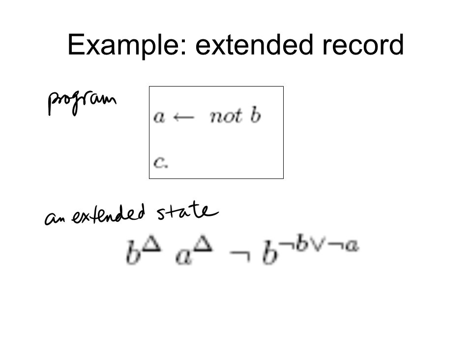 Example: extended record