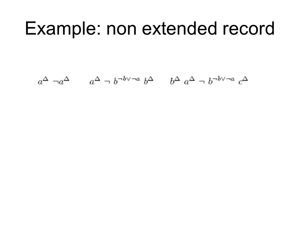 Example: non extended record