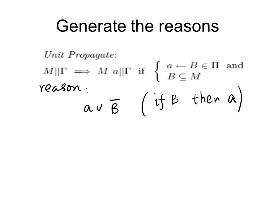 Generate the reasons