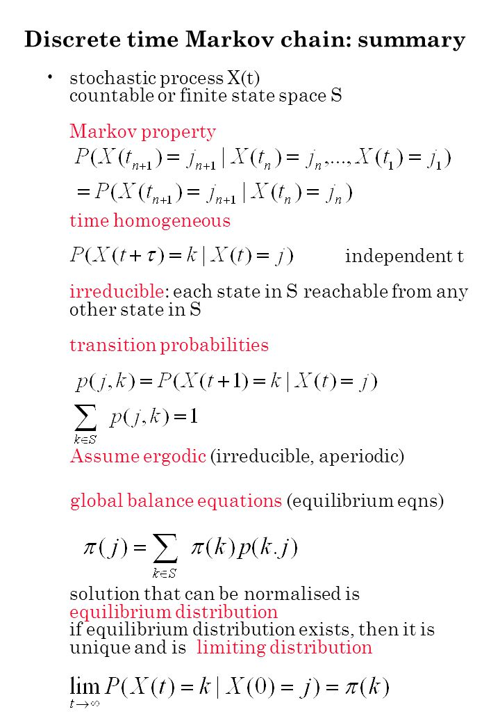 Lemma 1.9 / Corollary 1.10: If the transition rates of a reversible Markov process with state space S and equilibrium distribution are altered by changing q(j,k) to cq(j,k) for where c>0 then the resulting Markov process is reversible in equilibrium and has equilibrium distribution where B is the normalizing constant.