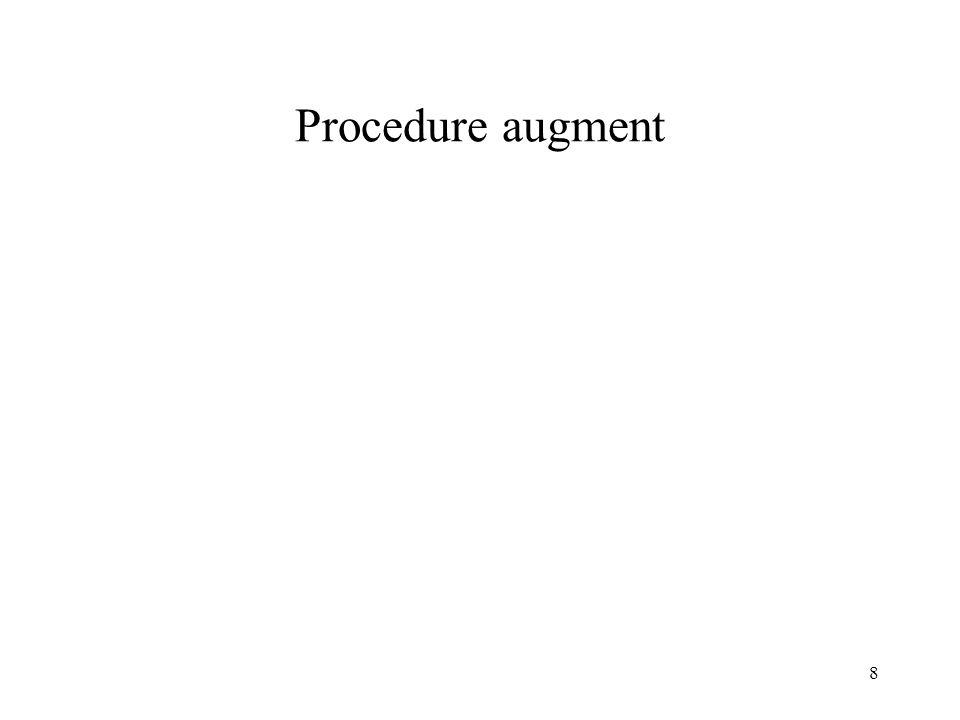8 Procedure augment