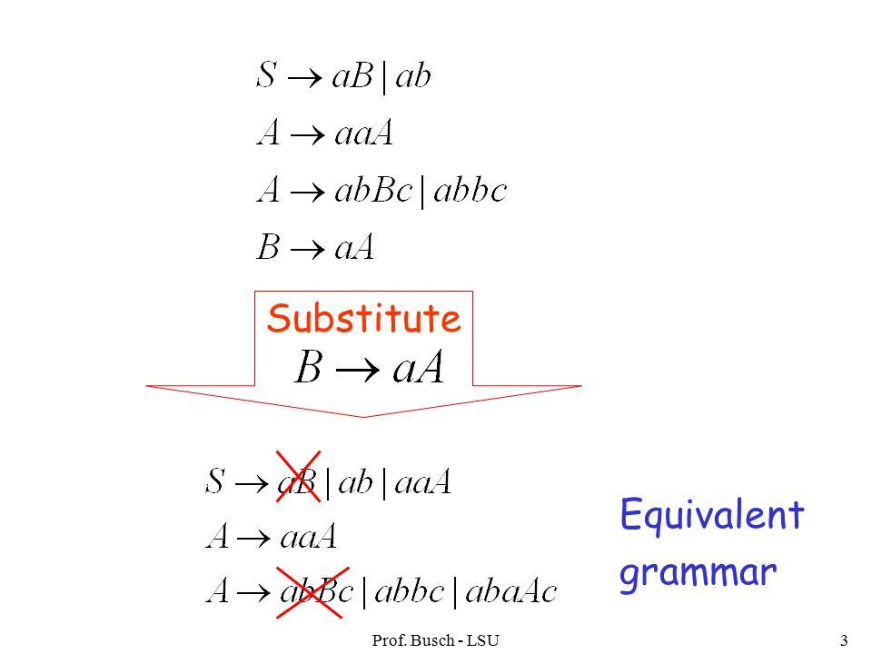 Prof. Busch - LSU3 Equivalent grammar Substitute