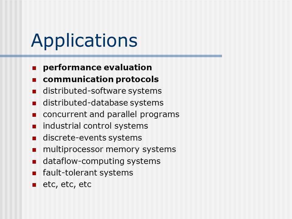 Applications performance evaluation communication protocols distributed-software systems distributed-database systems concurrent and parallel programs