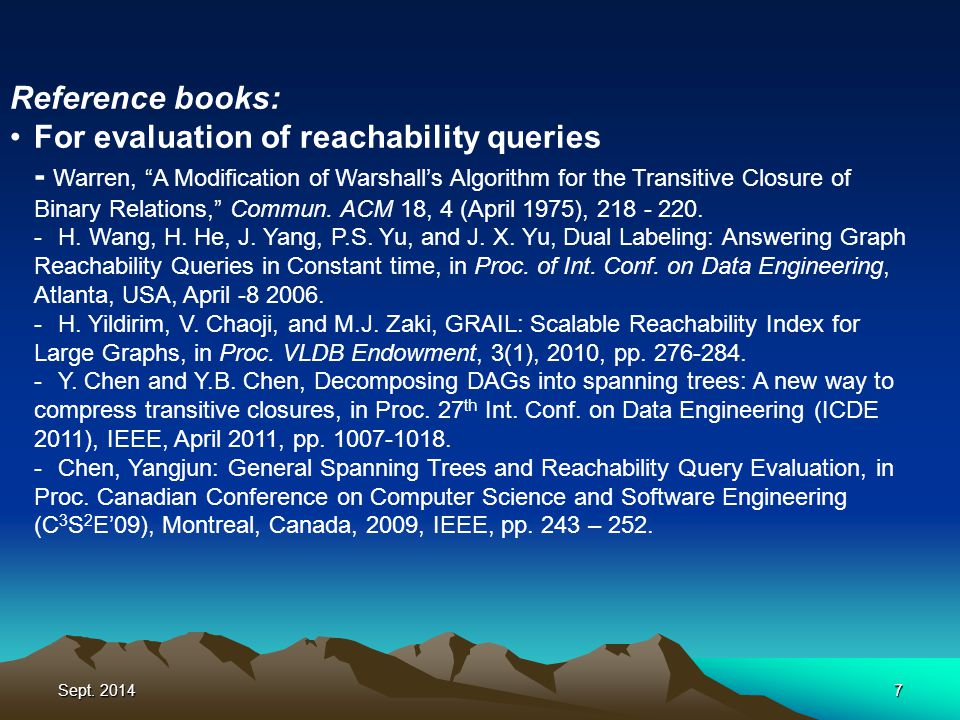 Sept.20148 Reference books: For evaluation of regular expressions -A.
