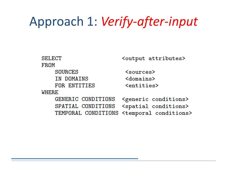 Approach 1: Verify-after-input