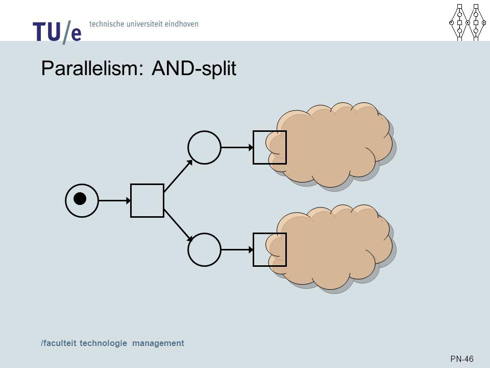 /faculteit technologie management PN-46 Parallelism: AND-split