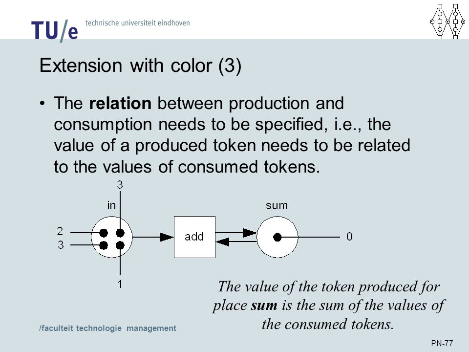 /faculteit technologie management PN-77 Extension with color (3) The relation between production and consumption needs to be specified, i.e., the valu