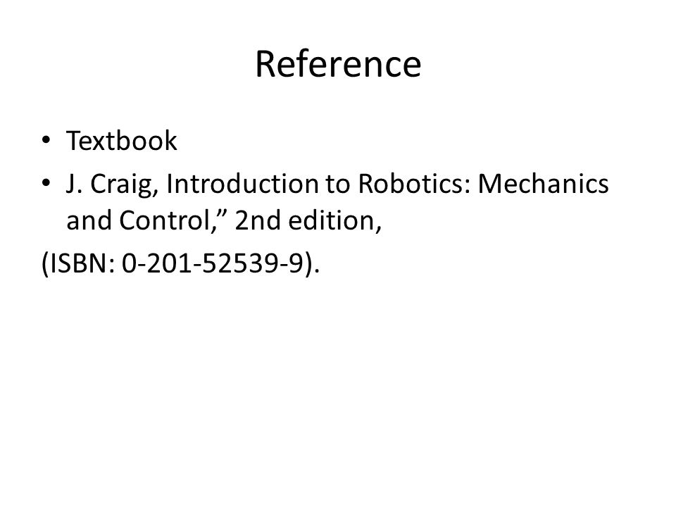 Reference Textbook J.