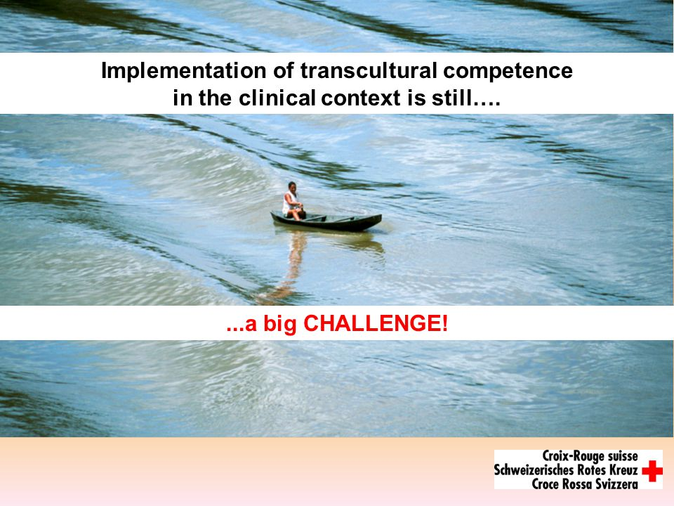 ...a big CHALLENGE! Implementation of transcultural competence in the clinical context is still….