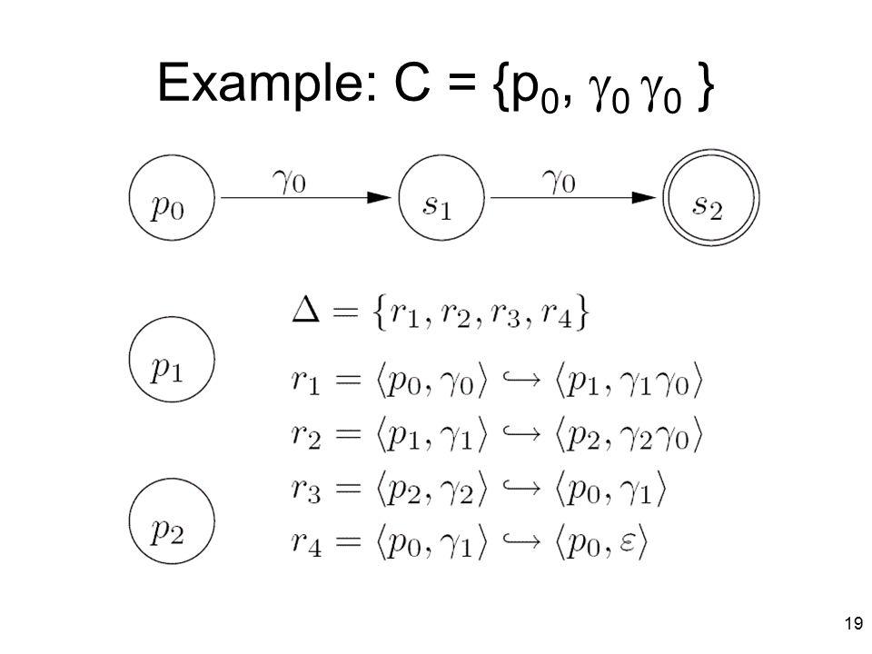 19 Example: C = {p 0,  0  0 }
