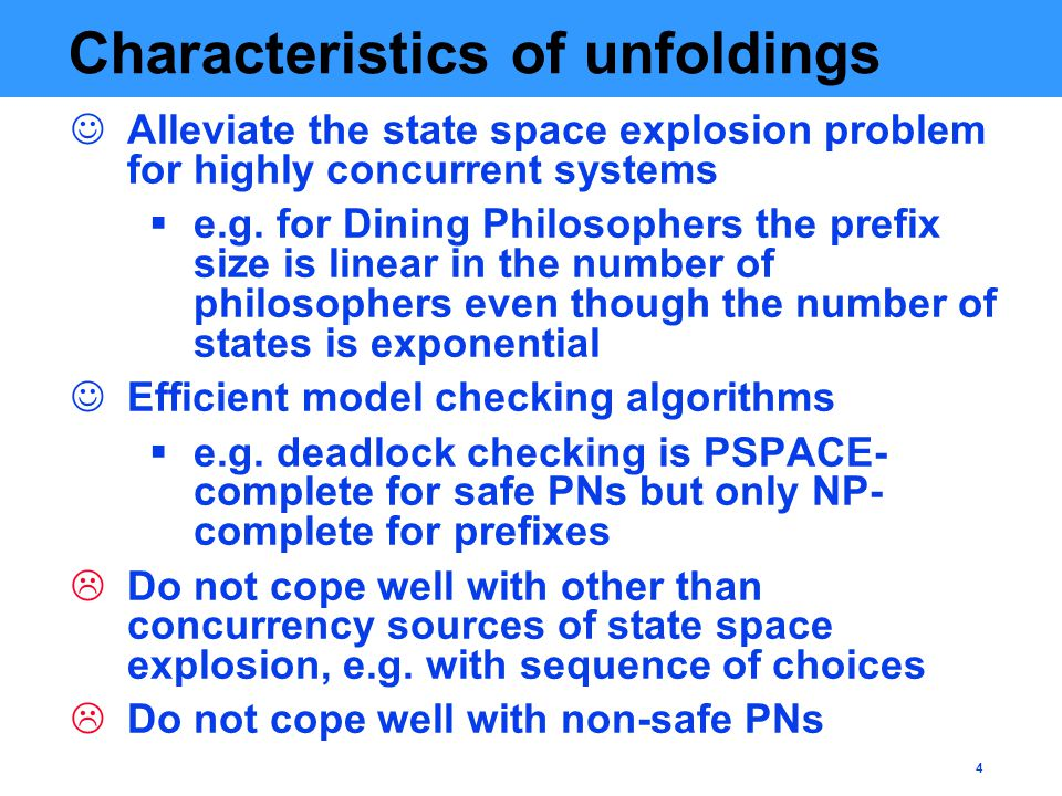 25 MP with a cycle Problem: cycles Still worse, the marking equation (ME) used for unfolding-based verification can have spurious solutions