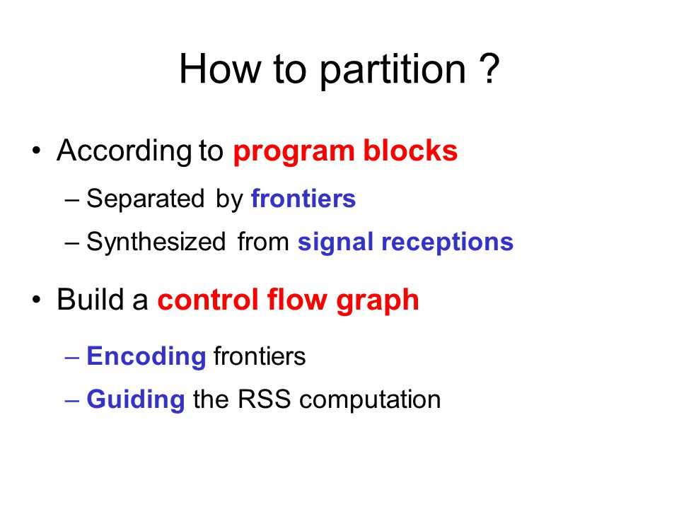 How to partition .