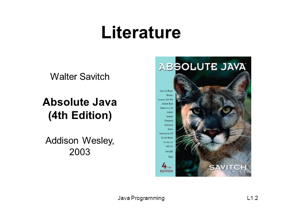Java ProgrammingL1.3 Contact Contact data: –E-Mailkutzner@hanyang.ac.kr –Phone2220 2397 –OfficeRoom 77-714 Slides of the course are available for download at itbe.hanyang.ac.kr