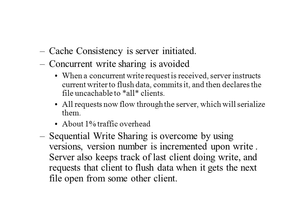 –Virtual Memory and FS cache compete for memory.Cache size is changed in response to memory usage.