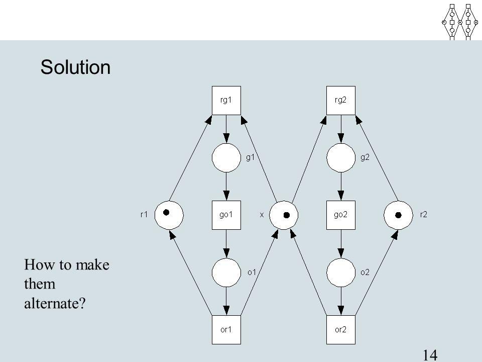14 Solution How to make them alternate?
