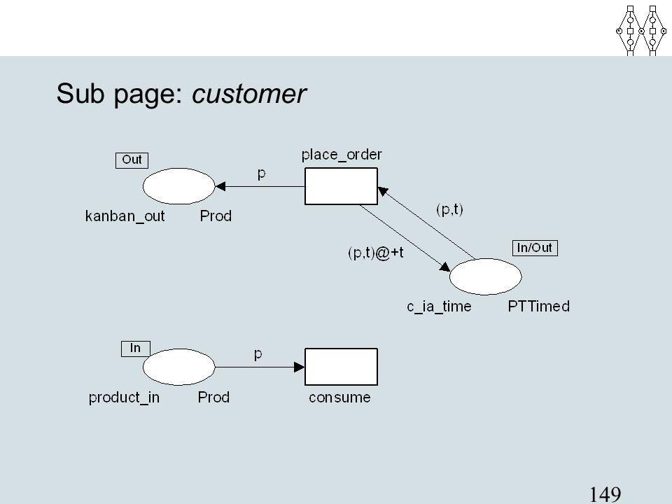 149 Sub page: customer
