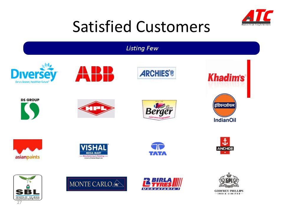27 Satisfied Customers Listing Few