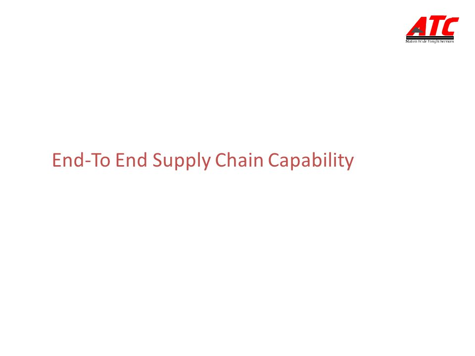 End-To End Supply Chain Capability