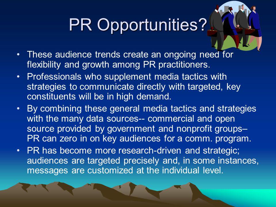 PR Opportunities.