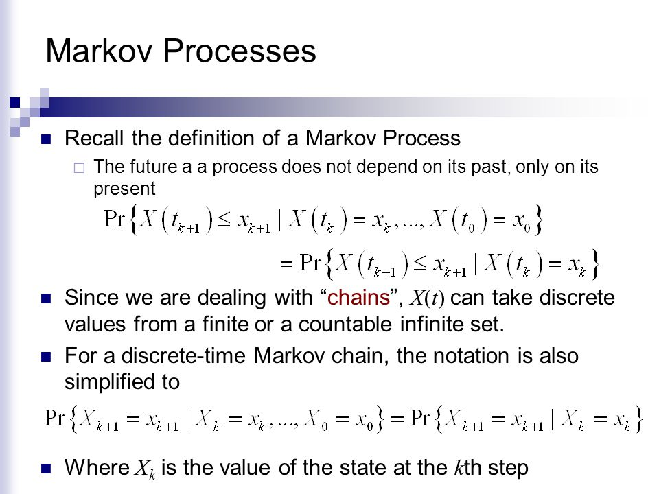 Periodic and Aperiodic States Suppose that the structure of the Markov Chain is such that state i is visited after a number of steps that is an integer multiple of an integer d >1.