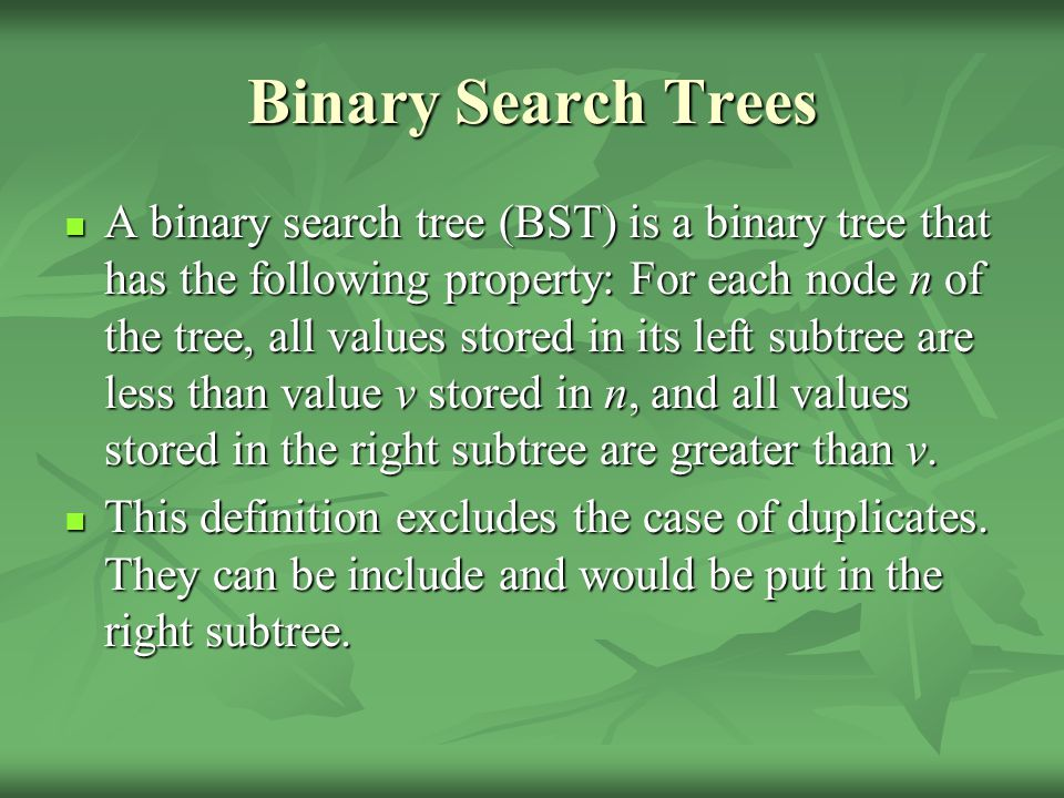 Binary Tree Traversals A traversal is where each node in a tree is visited and visited once A traversal is where each node in a tree is visited and visited once For a tree of n nodes there are n.