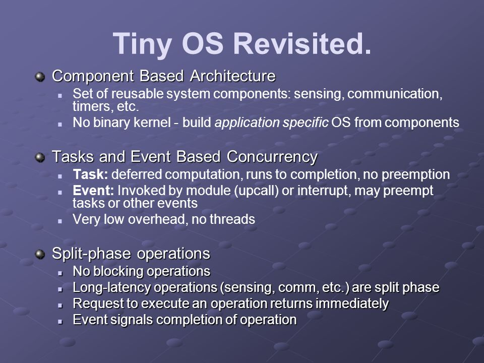 Tiny OS Revisited.