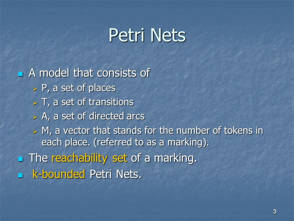 4 An Example A Petri Net for modeling bisexual population A Petri Net for modeling bisexual population