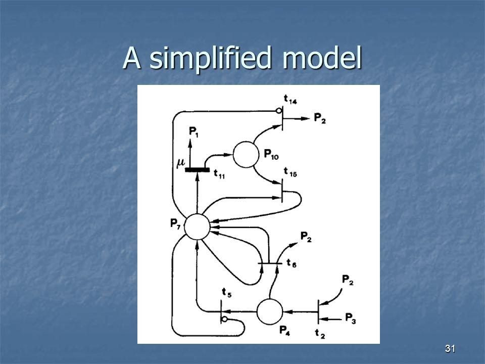 31 A simplified model