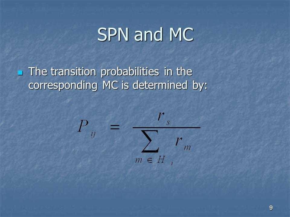 10 The transition matrix of MC The transition matrix of a MC is defined as: The transition matrix of a MC is defined as: