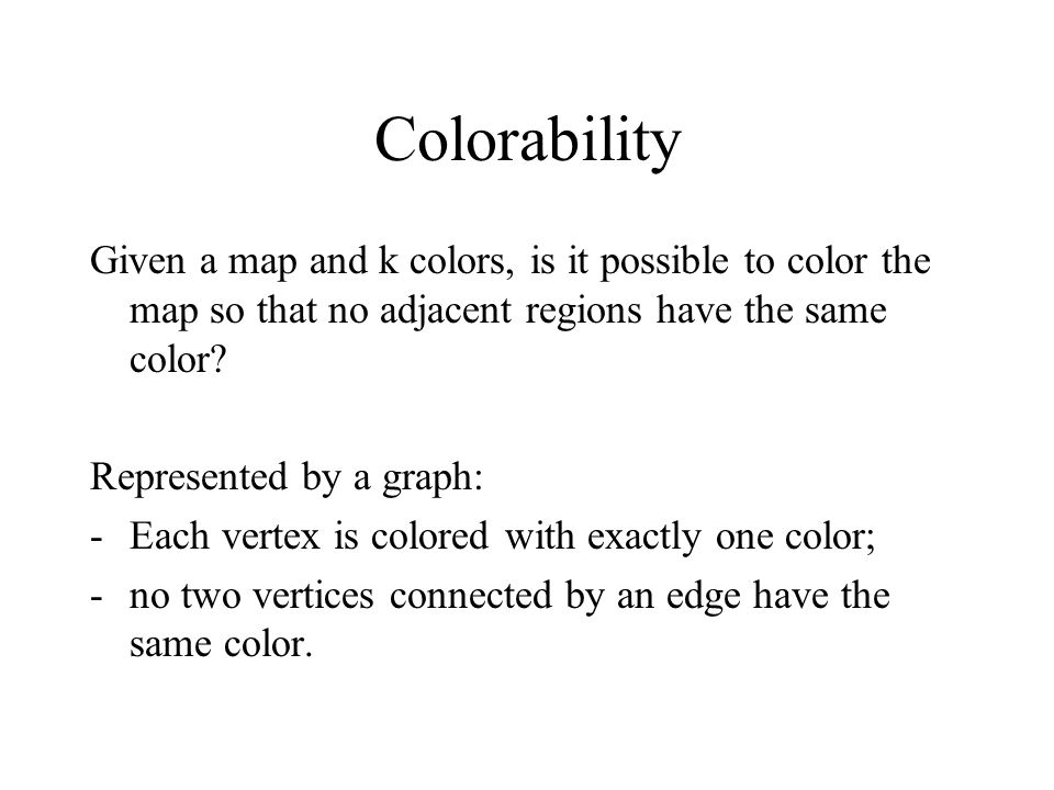 A program solving 3-colorability % Each vertex is colored with exactly one color: 1 {color(V,red), color(V,blue),color(V,yellow) } 1  vertex(V).