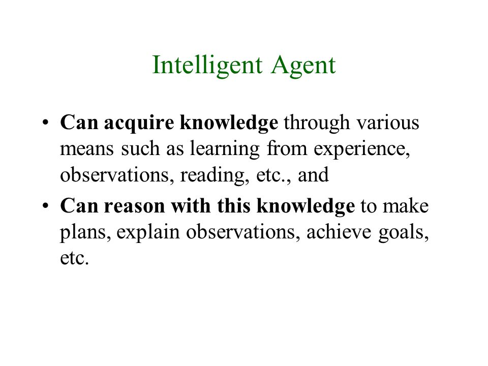 To learn knowledge and to reason with it we need to know how to represent knowledge in a computer readable format.