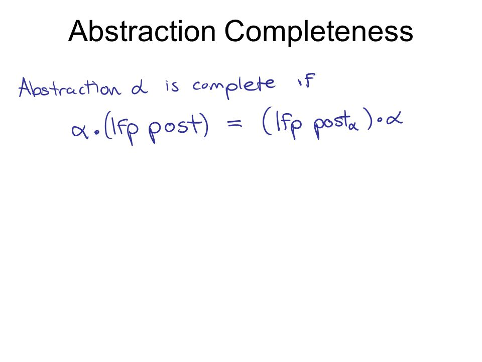 Abstraction Completeness