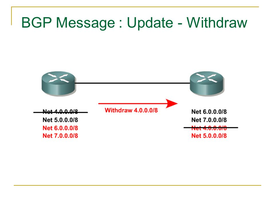 BGP Message : Update - Withdraw