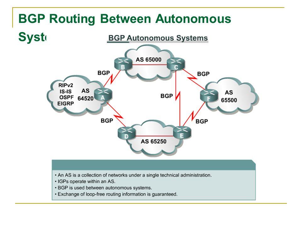 BGP Routing Between Autonomous Systems