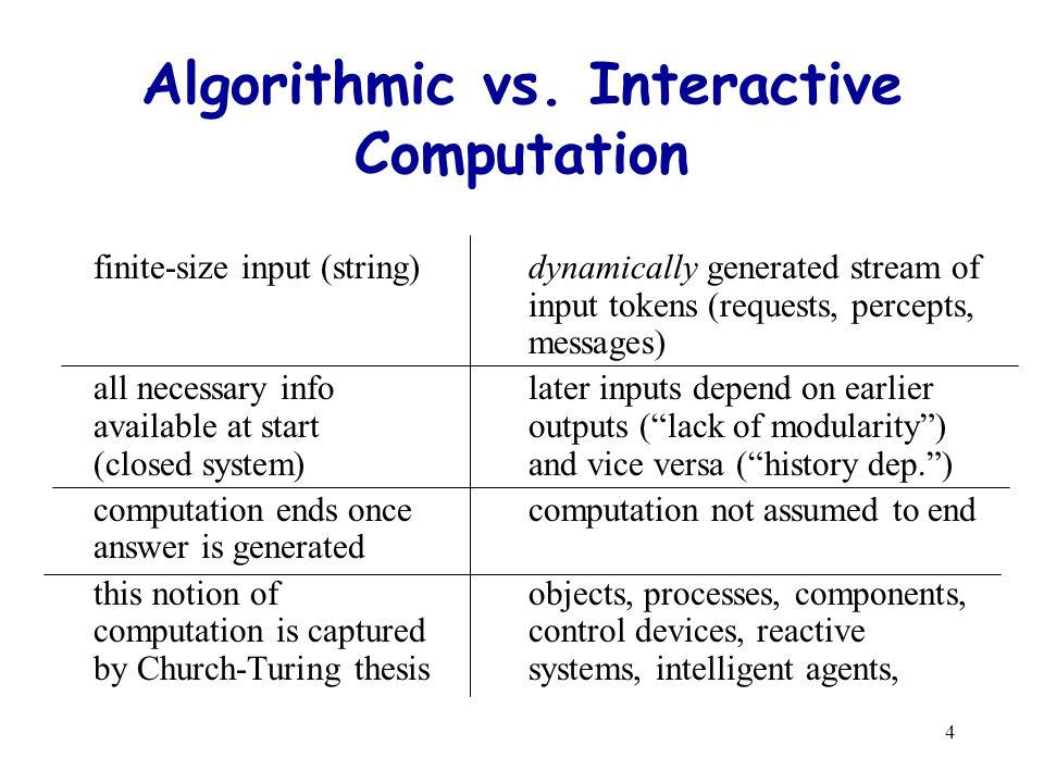 4 Algorithmic vs.