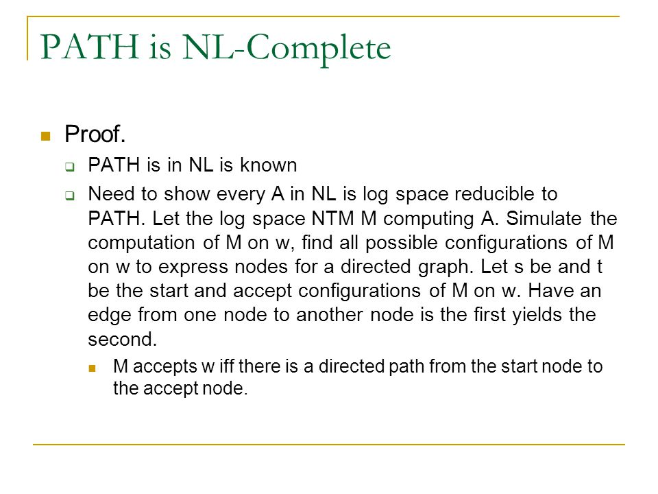 PATH is NL-Complete Proof.