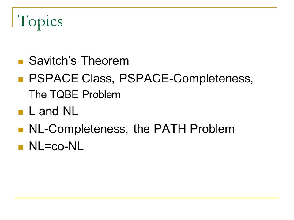 Space Complexity Definition. Let M be a DTM that halts on all inputs.