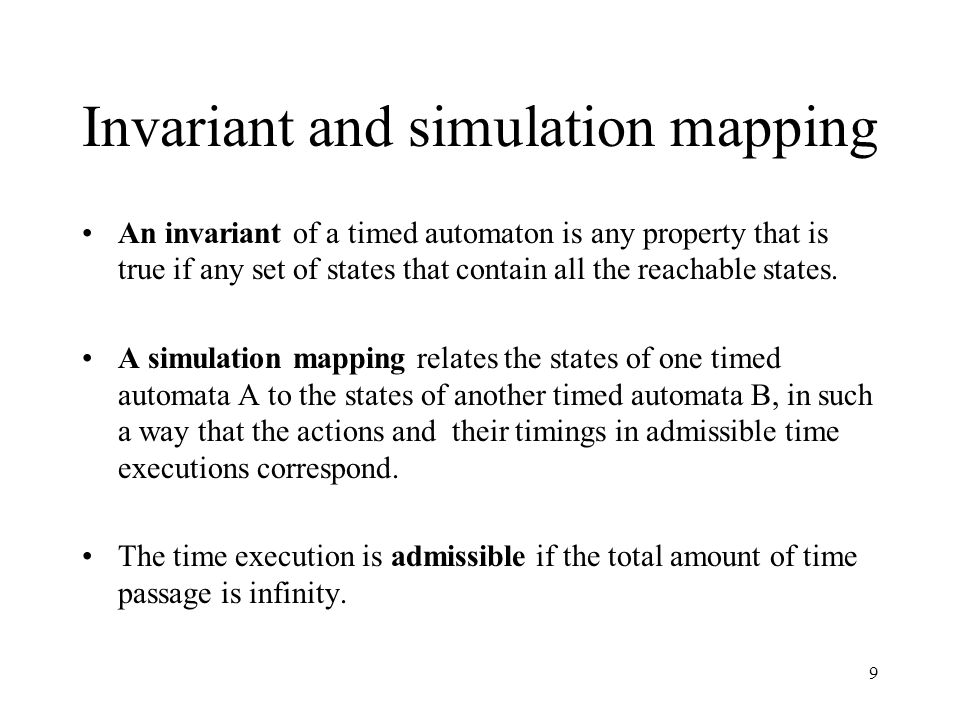 20 Introduction Background Three theories underlie the timed automata mode Template for defending timed automata model in PVS Hand proof and PVS proof Conclusion and critics References
