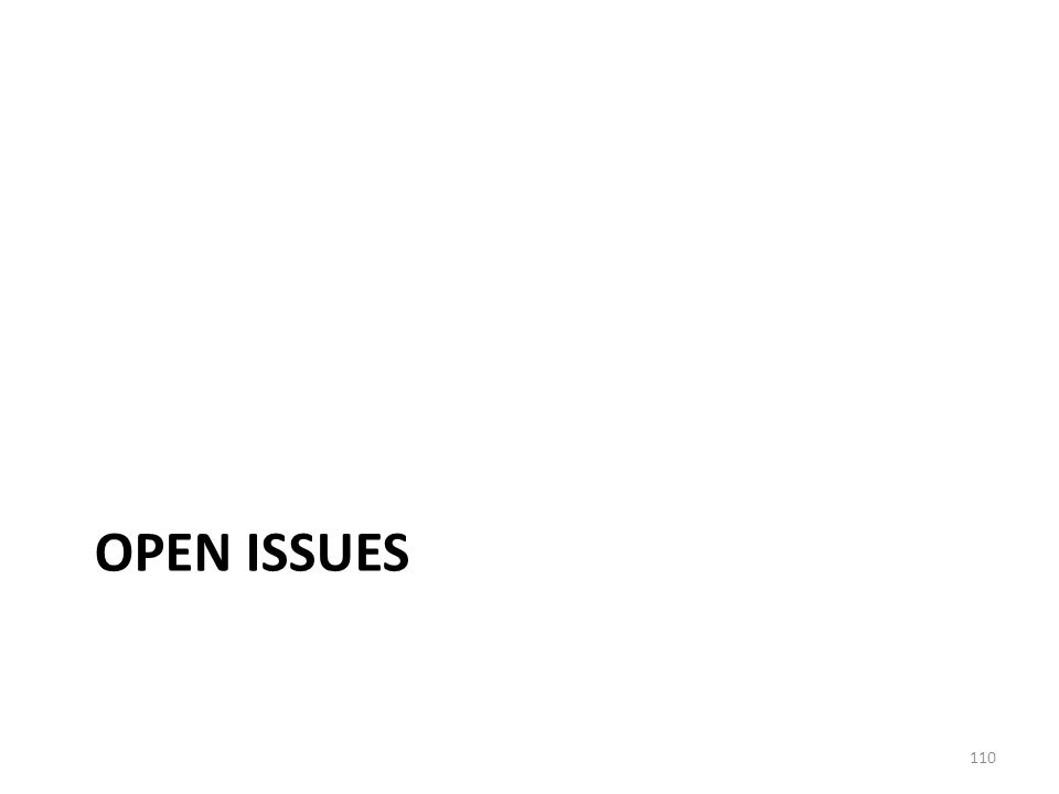 OPEN ISSUES 110