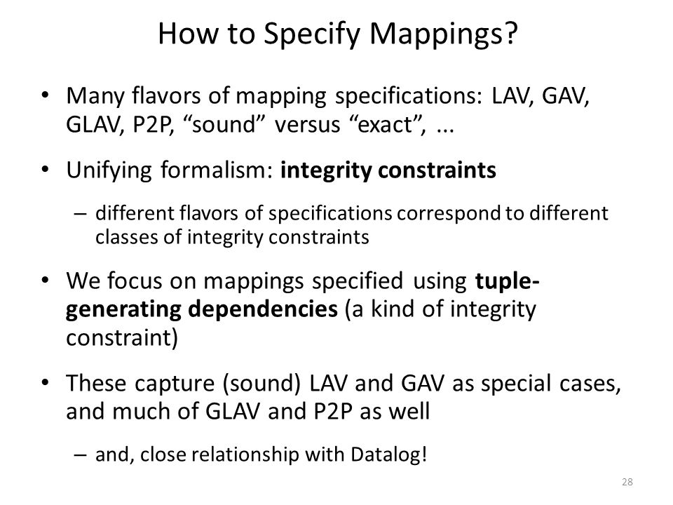 How to Specify Mappings.