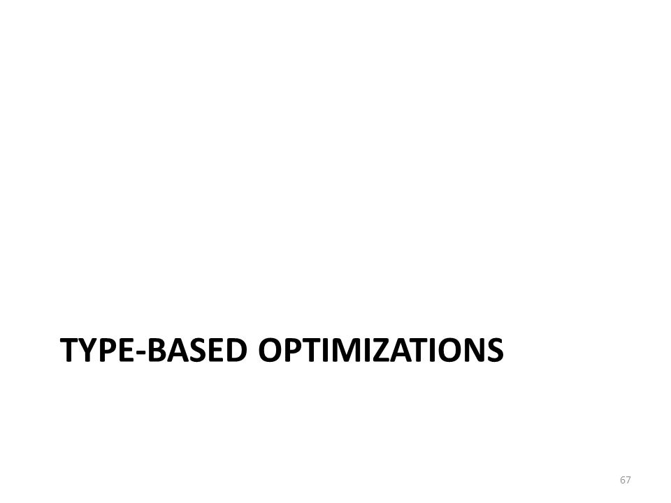 TYPE-BASED OPTIMIZATIONS 67