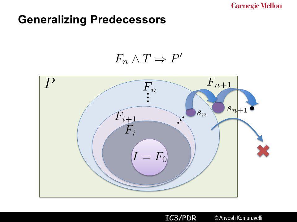 © Anvesh Komuravelli IC3/PDR … … Generalizing Predecessors