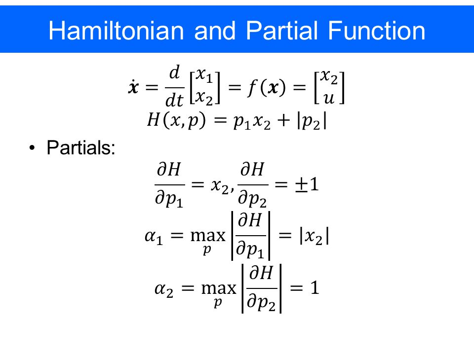 Hamiltonian and Partial Function