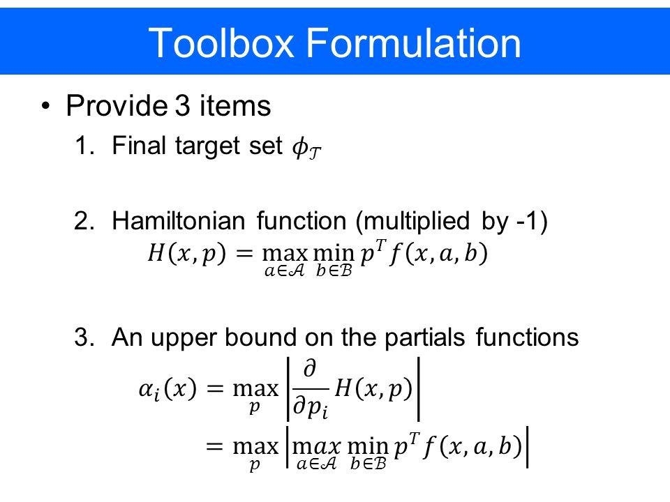 Toolbox Formulation