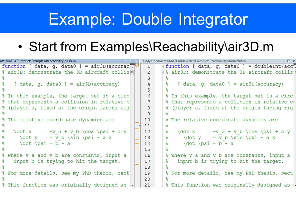Start from Examples\Reachability\air3D.m